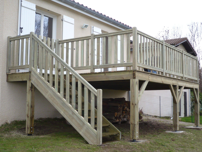 Realiser Une Terrasse Sur Pilotis Terrasse En Hauteur Beton ... concernant Terrasse Bois Pilotis