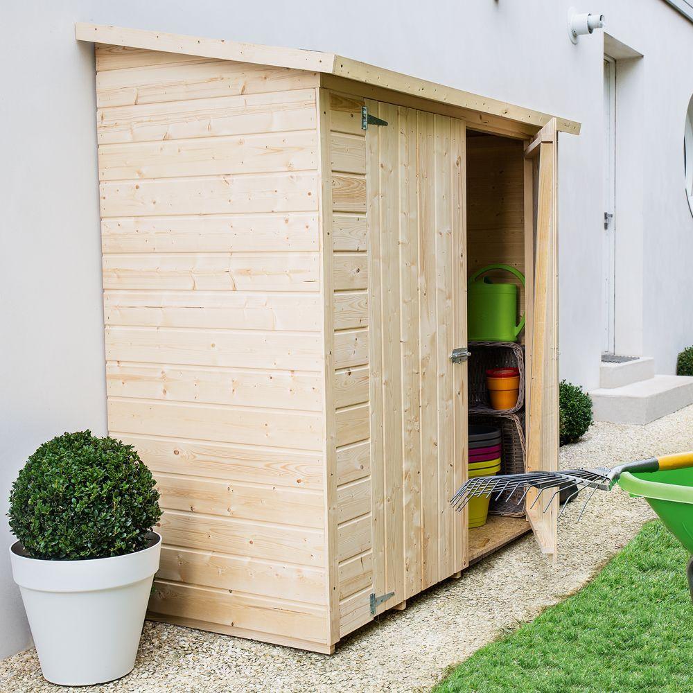Remise Adossée Bois Avec Plancher L170 H180 Cm | Abri De ... concernant Abri De Jardin 19M2