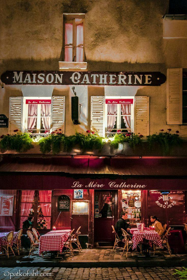 Restaurant La Mère Catherine, Place Du Tertre, Montmartre ... à La Maison De Catherine