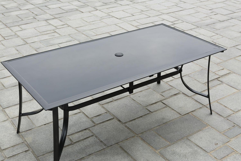 Rimini 8 avec Table De Jardin En Aluminium