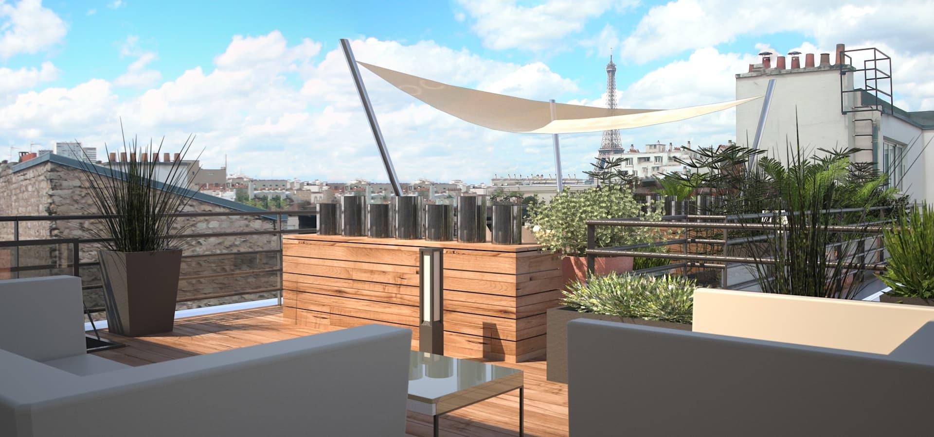 Rm Architecte: Aménagement D'un Toit-Terrasse À Paris | Homify encequiconcerne Amenagement De Terrasse