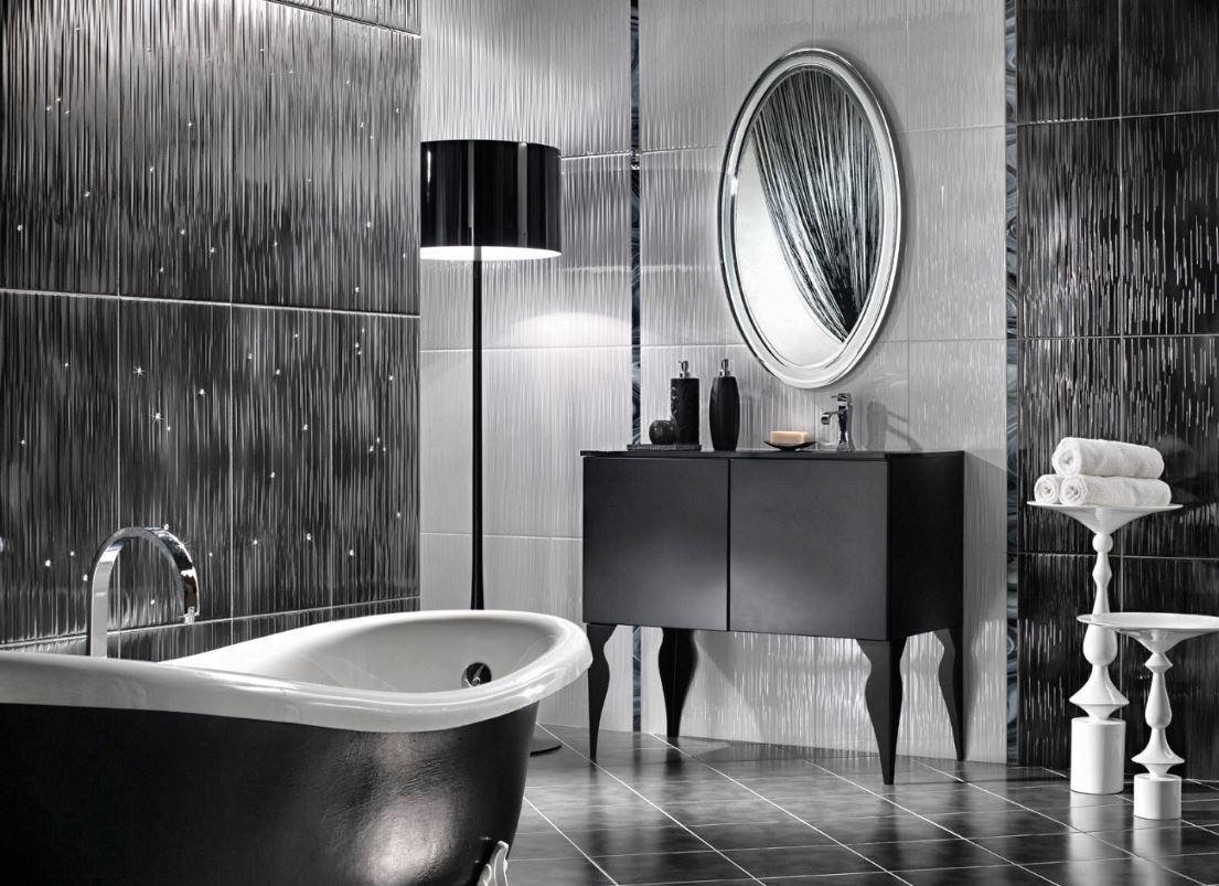 Salle De Bain Noir : 23 Idées De Salle De Bain Noir Et Moderne § intérieur Modele Carrelage Salle De Bain