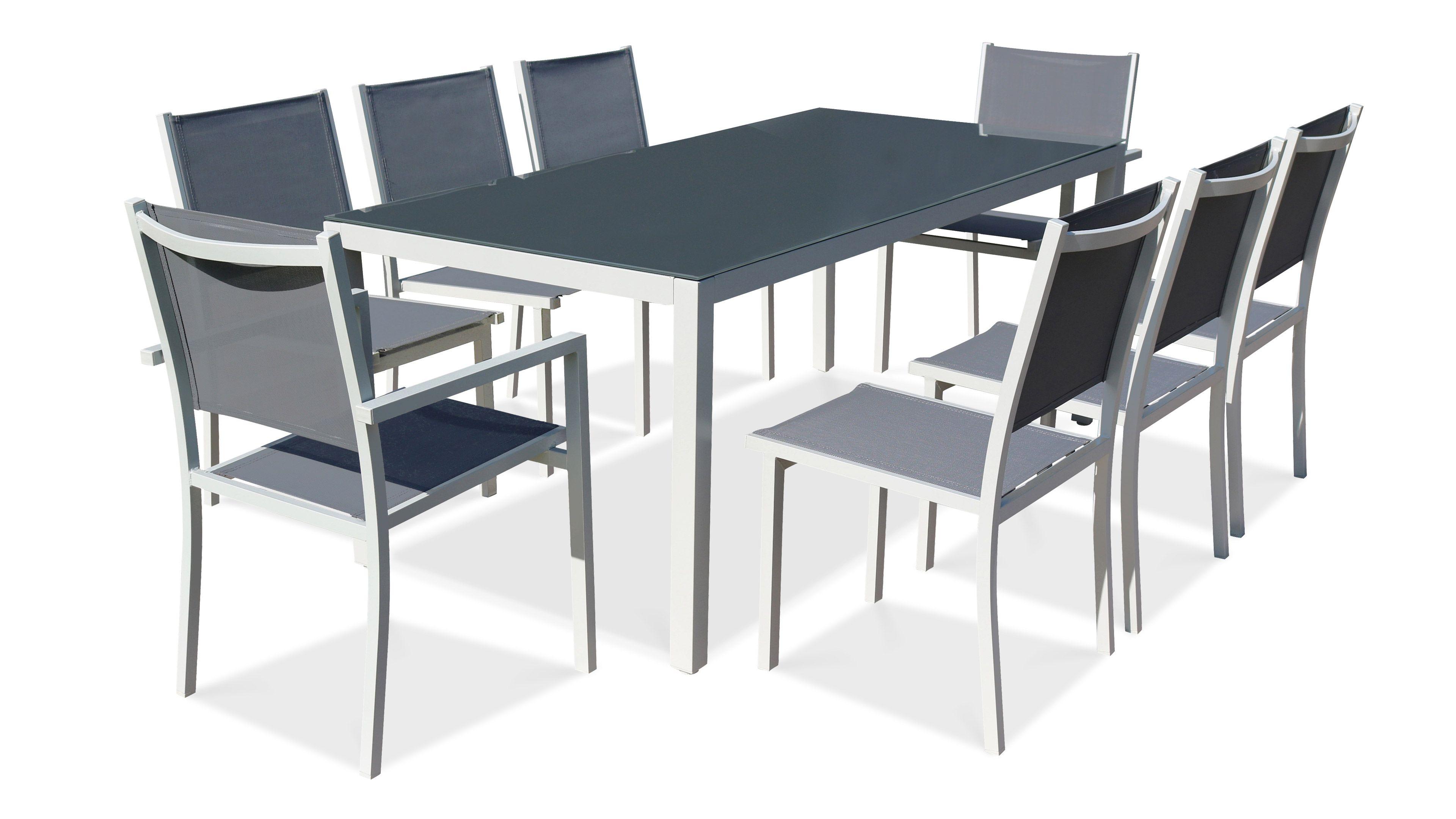 Salon De Jardin Aluminium Table De Jardin 8 Places à Table De Jardin En Aluminium