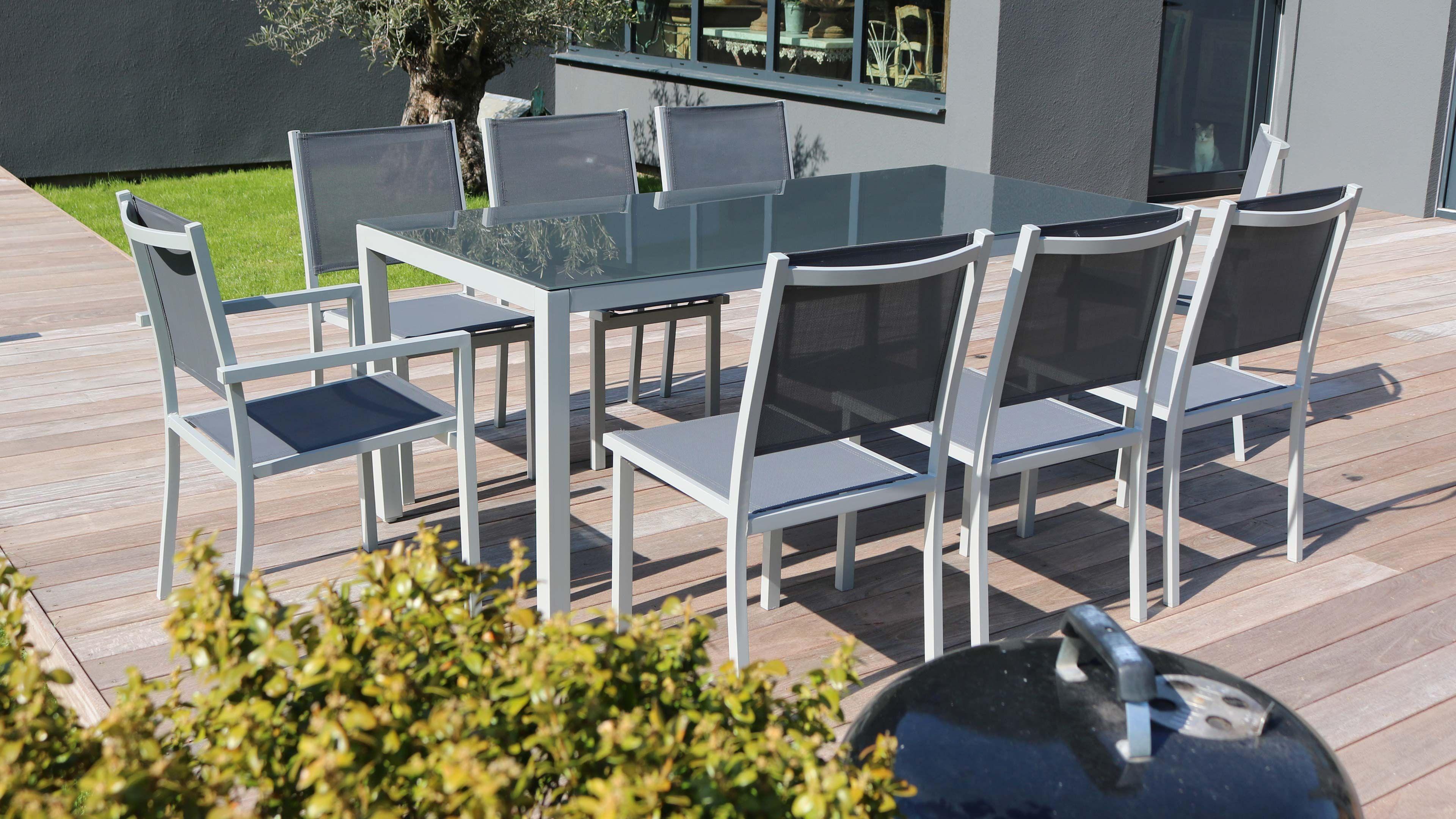 Salon De Jardin Aluminium Table De Jardin 8 Places intérieur Table De Jardin En Aluminium