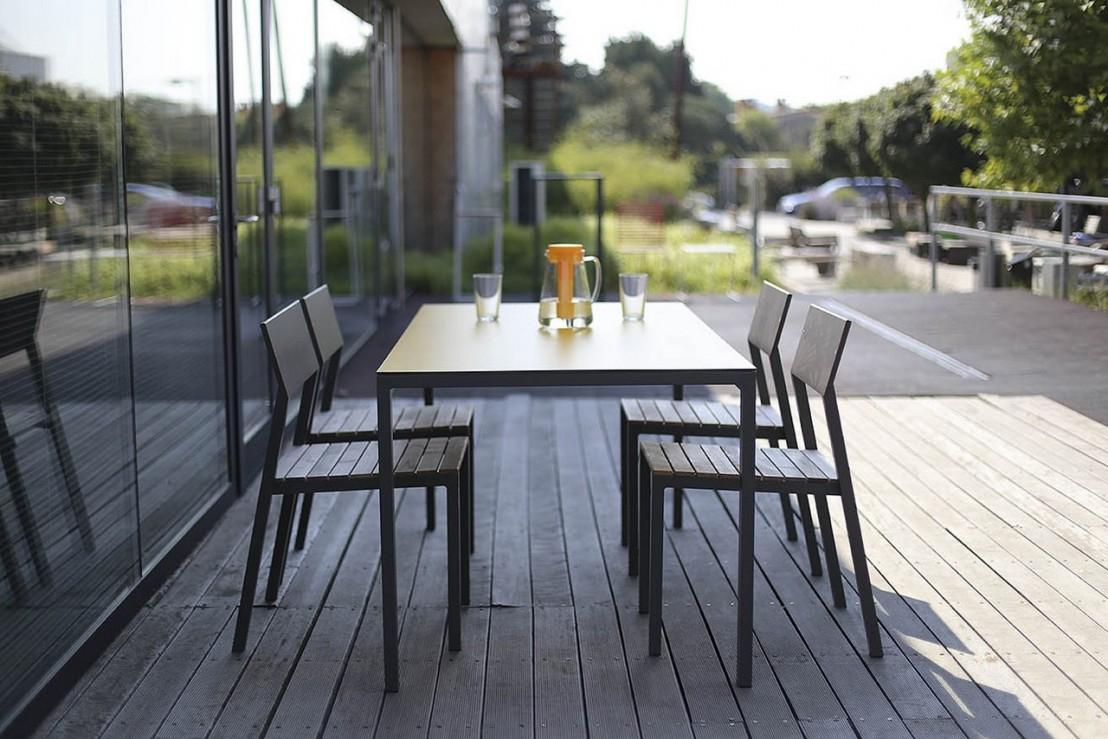 Salon De Jardin Cora, Table Rectangle 175 Cm Et 4 Chaises ... tout Salon De Jardin Cora