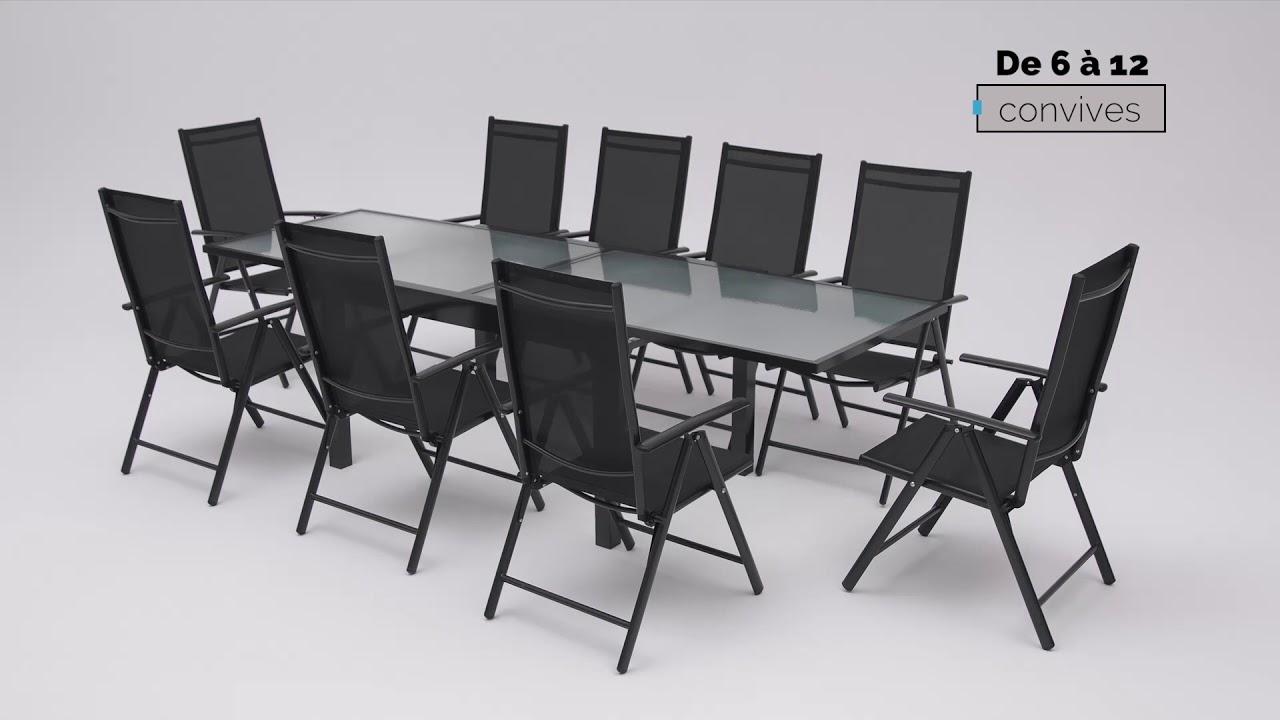 Salon De Jardin En Aluminium Bobochic® pour Table De Jardin En Aluminium