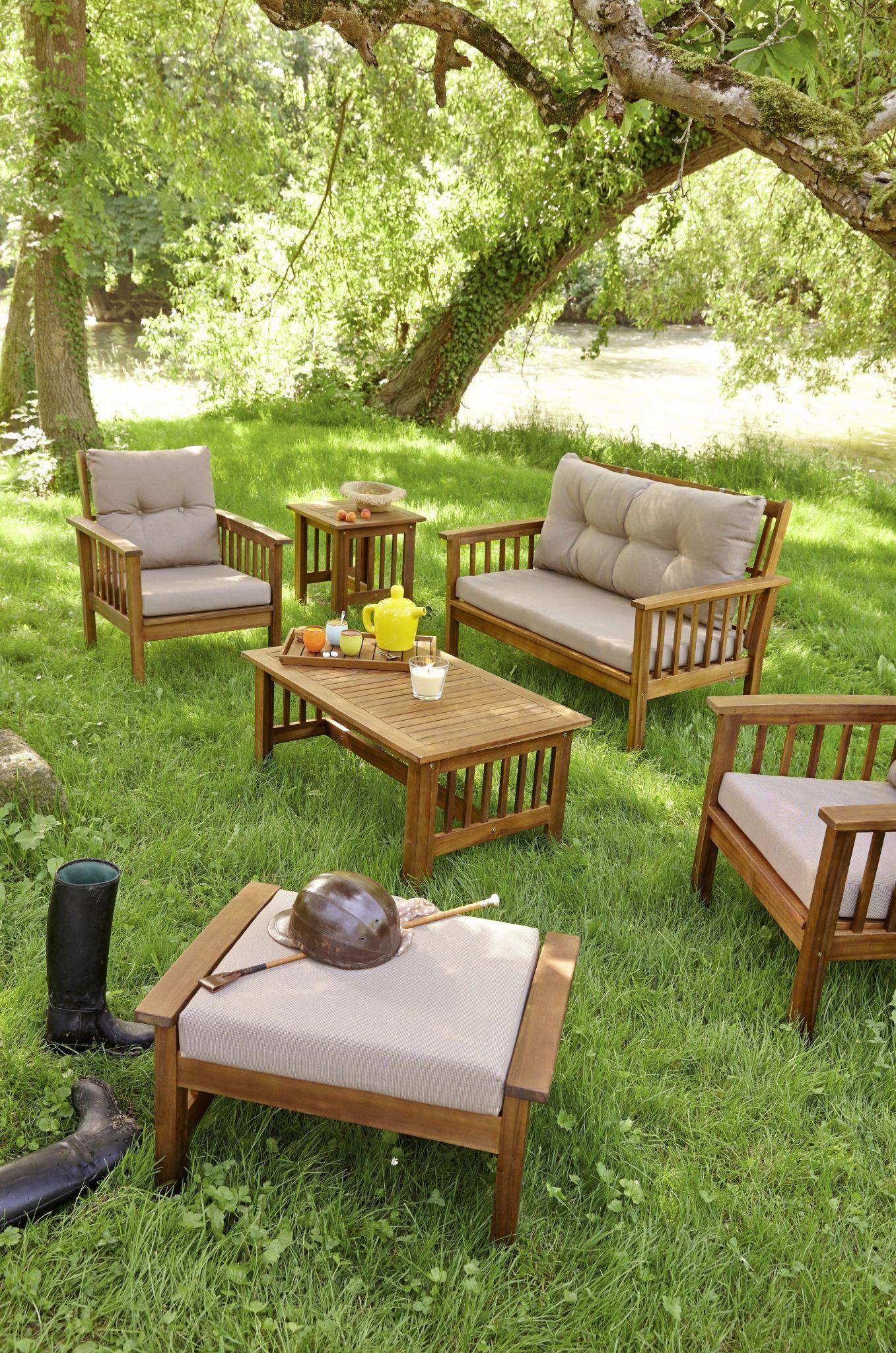 Salon De Jardin En Palette Génial Table Jardin Teck Luxe ... serapportantà Table Jardin Bois