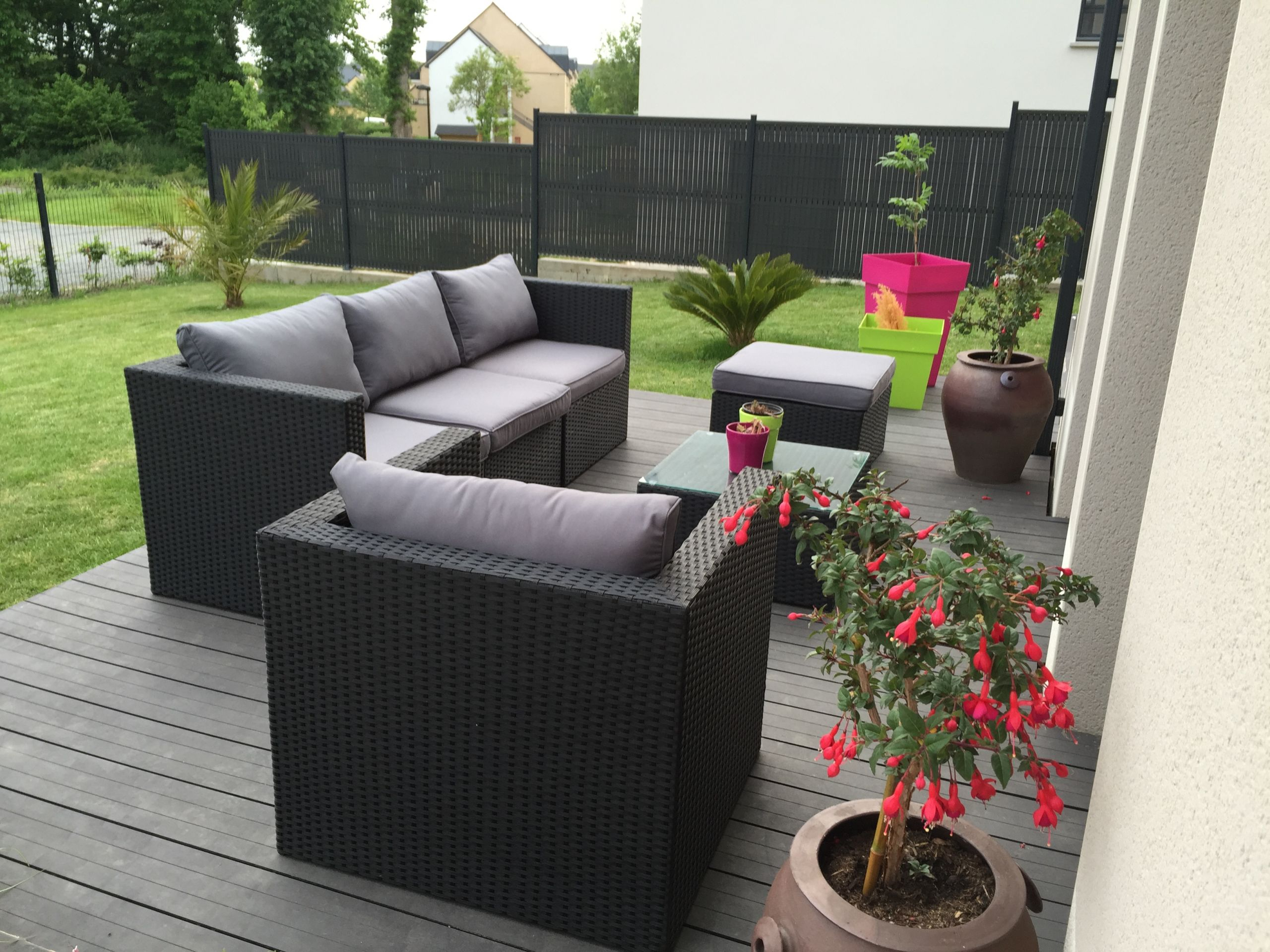 Salon De Jardin Exterieur Pas Cher Best Of Dalle Terrasse ... concernant Dalle Pas Cher