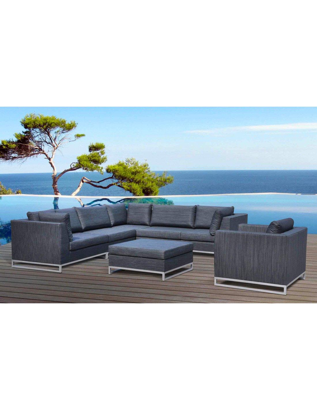 Salon De Jardin Ibiza Tissu Haut De Gamme | Delorm | Gris serapportantà Salon De Jardin Haut De Gamme