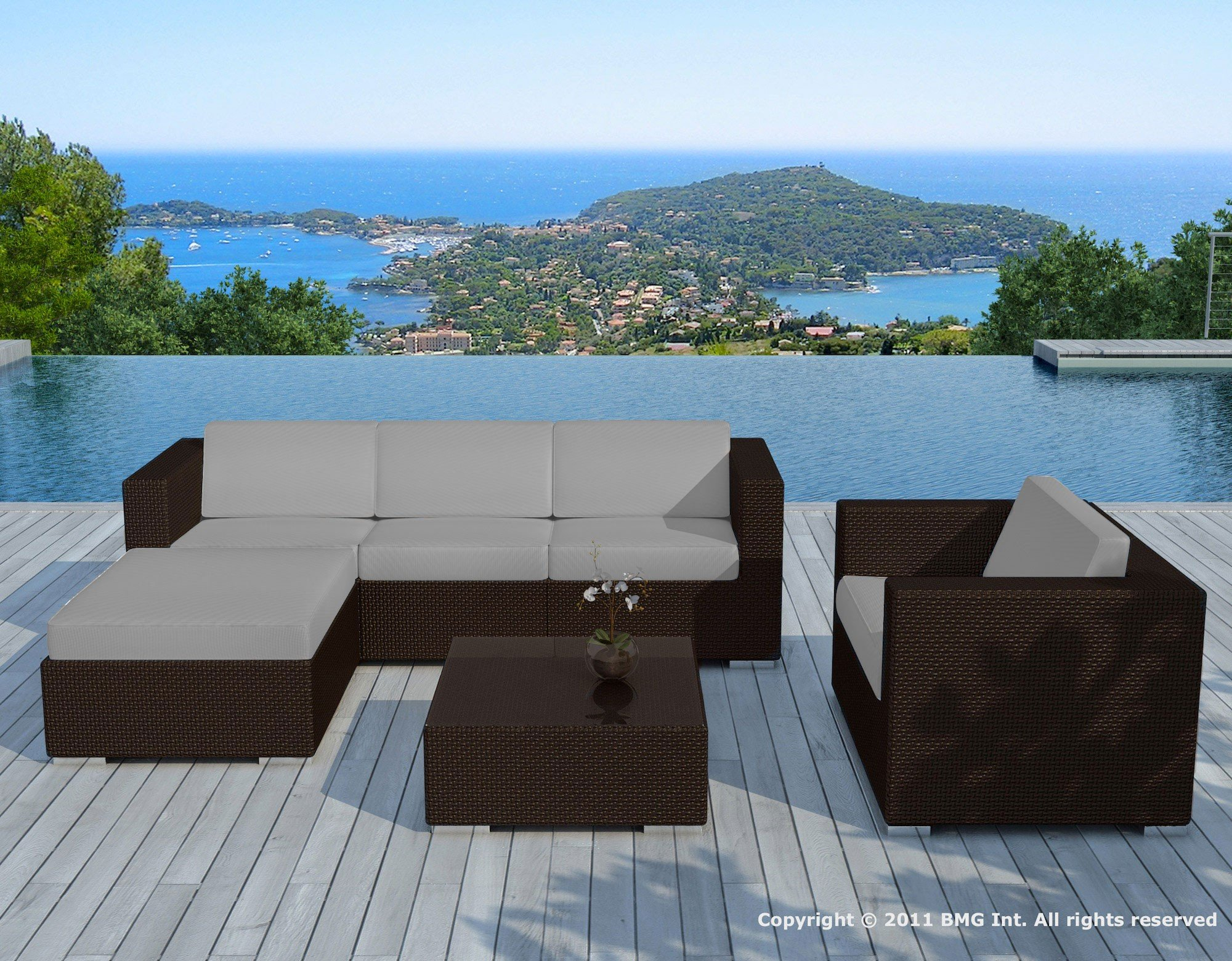 Salon De Jardin Resine Chocolat/gris - Copacabana - Delorm Design encequiconcerne Salon De Jardin Haut De Gamme