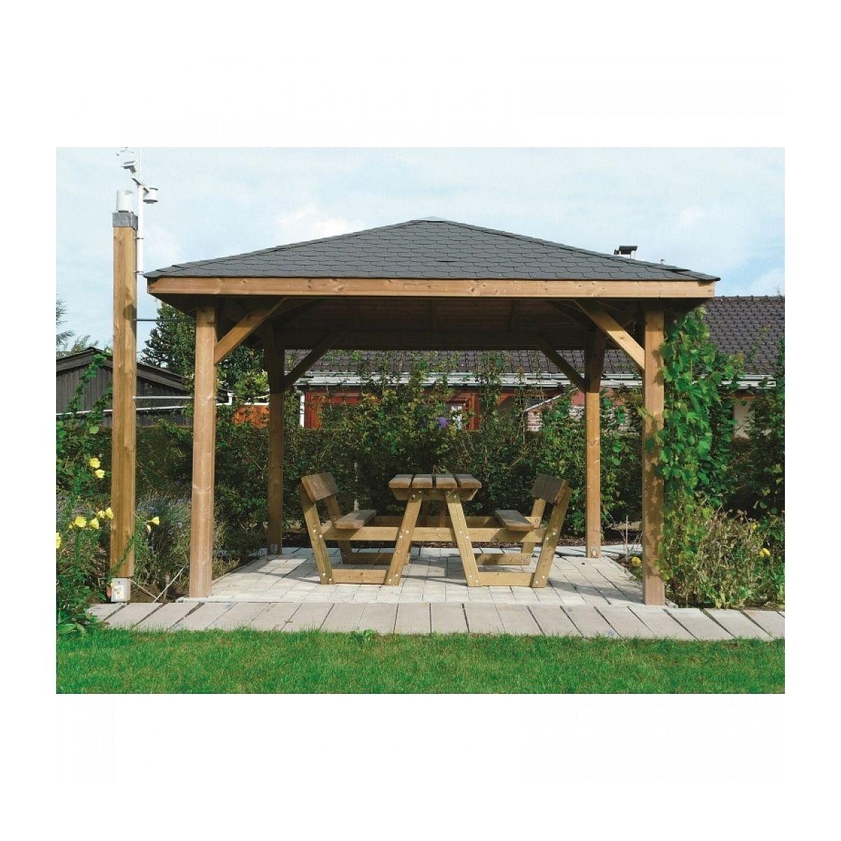 Solid Abri De Jardin Maisonnette Chalet De Jardin Kiosk ... intérieur Abri De Jardin Solid