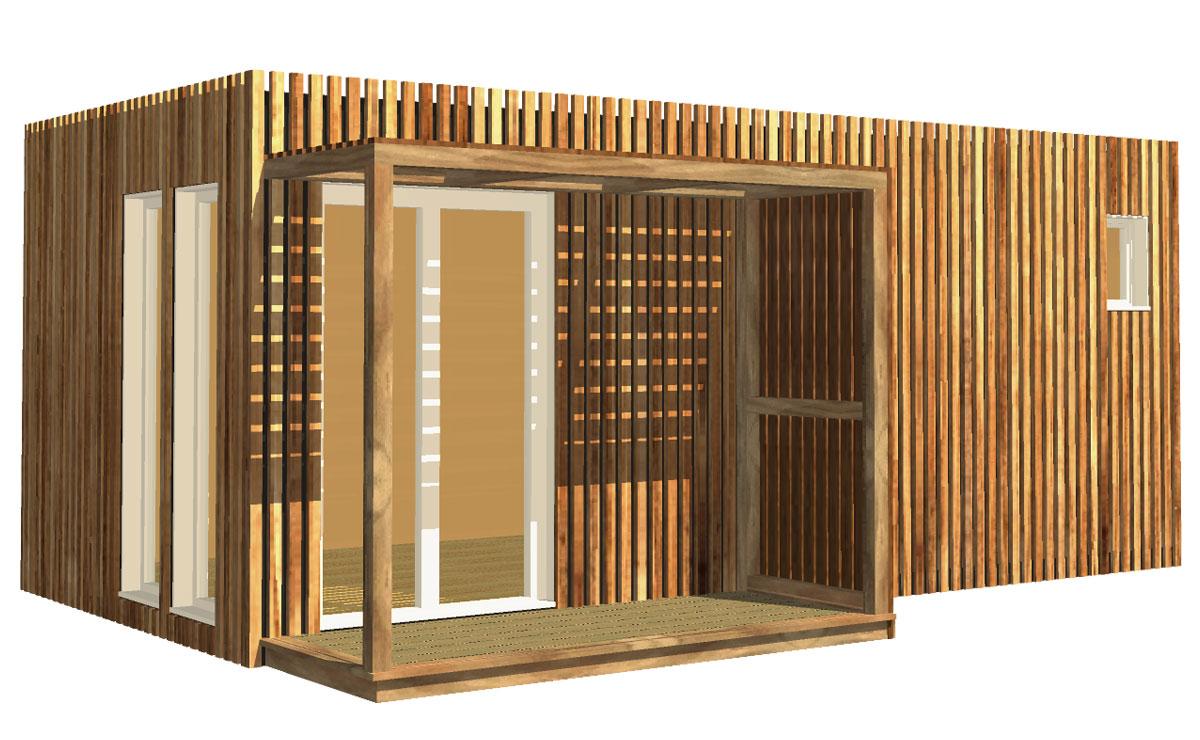 Studio De Jardin En Bois, 20M² à Abri De Jardin 19M2