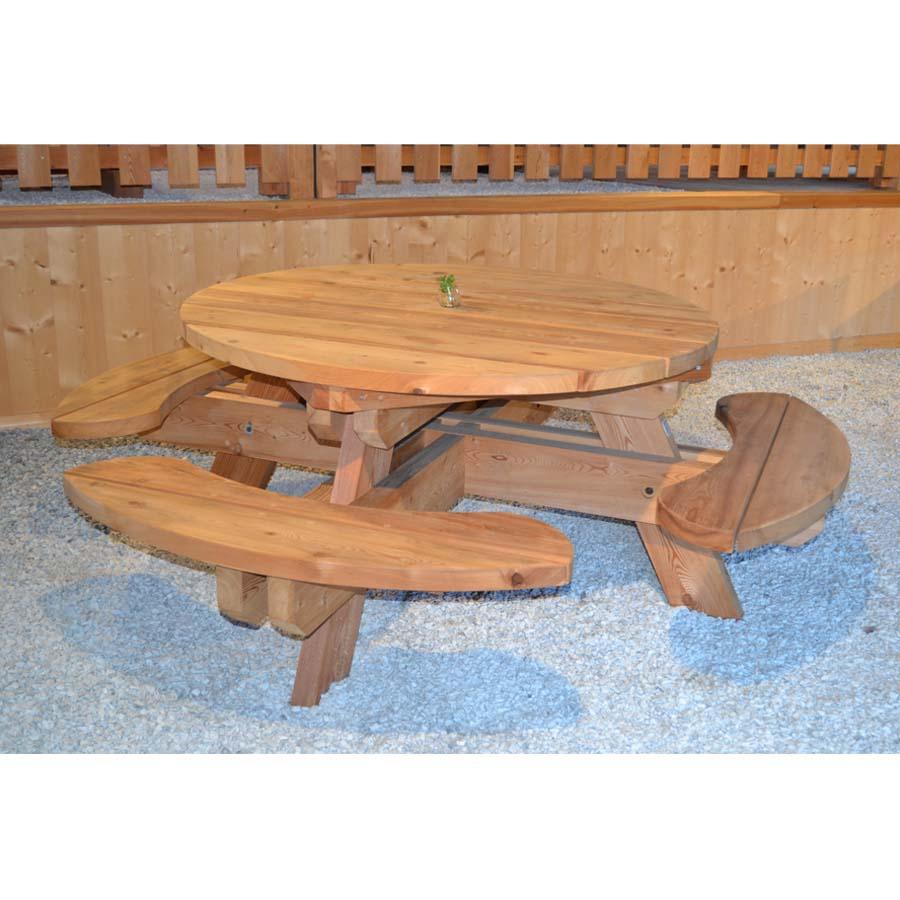 Table Banc Ronde encequiconcerne Bois Pour Exterieur