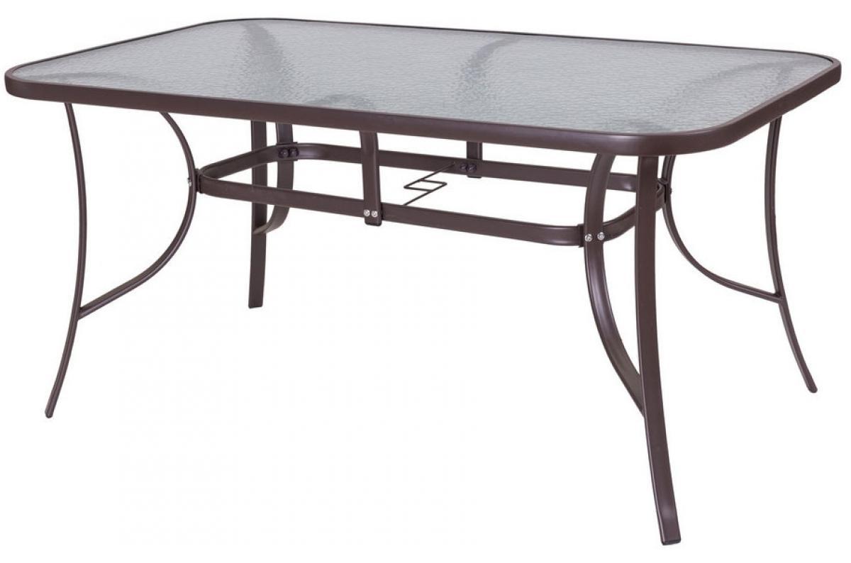 Table De Jardin Acier-Verre Marron Neila Plus D's à Mobilier Extarieur Pas Cher