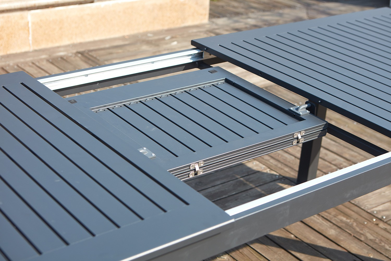 Table De Jardin En Aluminium Table De Jardin Extensible 6 ... dedans Table De Jardin En Aluminium