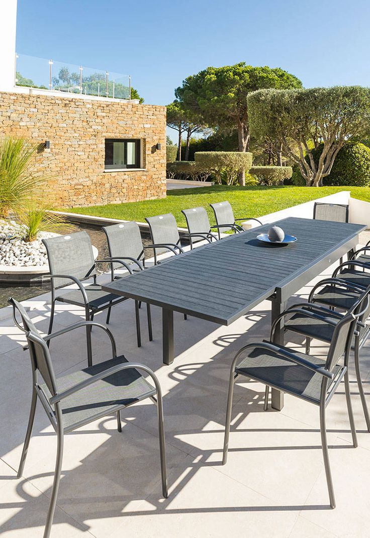 Table De Jardin Piazza | Salon De Jardin Truffaut, Table De ... tout Salon De Jardin Truffaut