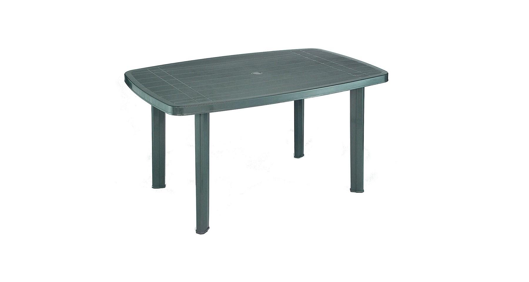 Table De Jardin Verte En Plastique 4 Personnes Pegase serapportantà Table Exterieur 4 Personnes