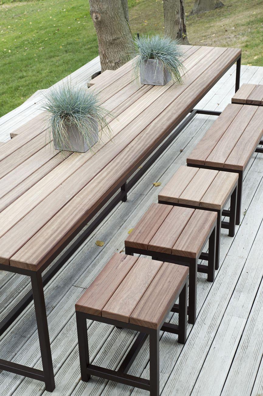Table De Jardin Xxxl | Table De Jardin, Table De Jardin Bois avec Table Jardin Bois