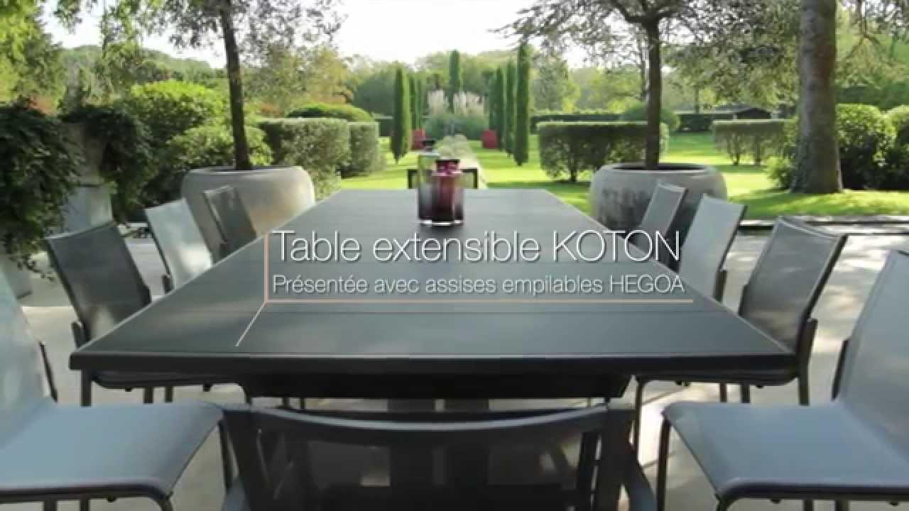 Table Extensible Koton - Les Jardins© Tables De Jardin Haut De Gamme intérieur Salon De Jardin Haut De Gamme