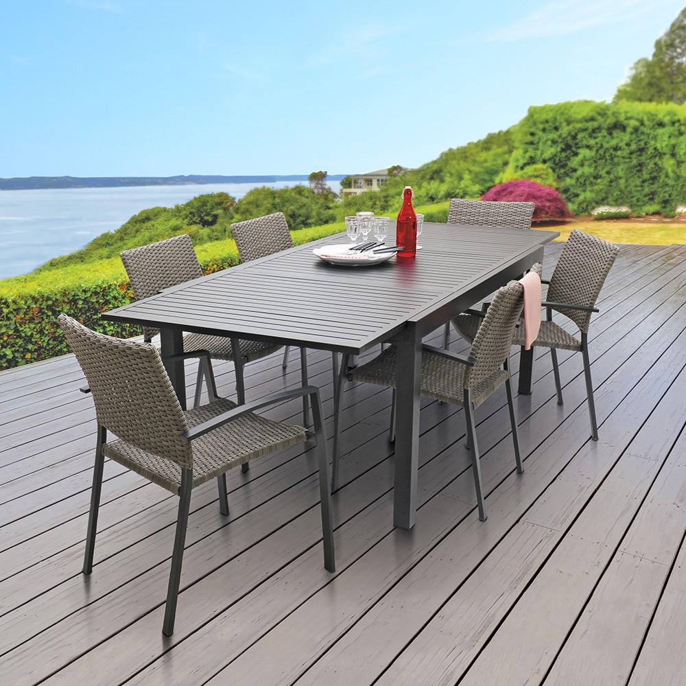 Table Extensible Nikitha Aluminium concernant Table De Jardin En Aluminium