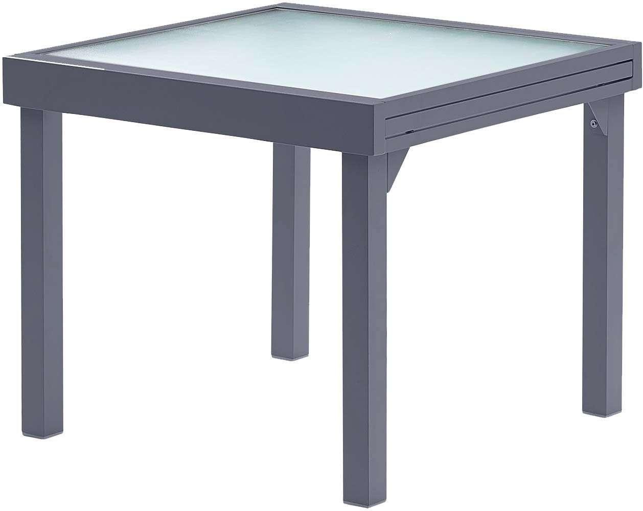 Table Jardin Modulo 4 À 8 Personnes Gris destiné Table Exterieur 4 Personnes