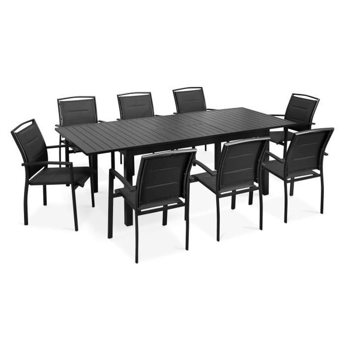 Table Jardin Rallonges tout Table Et Chaises De Jardin Pas Cher