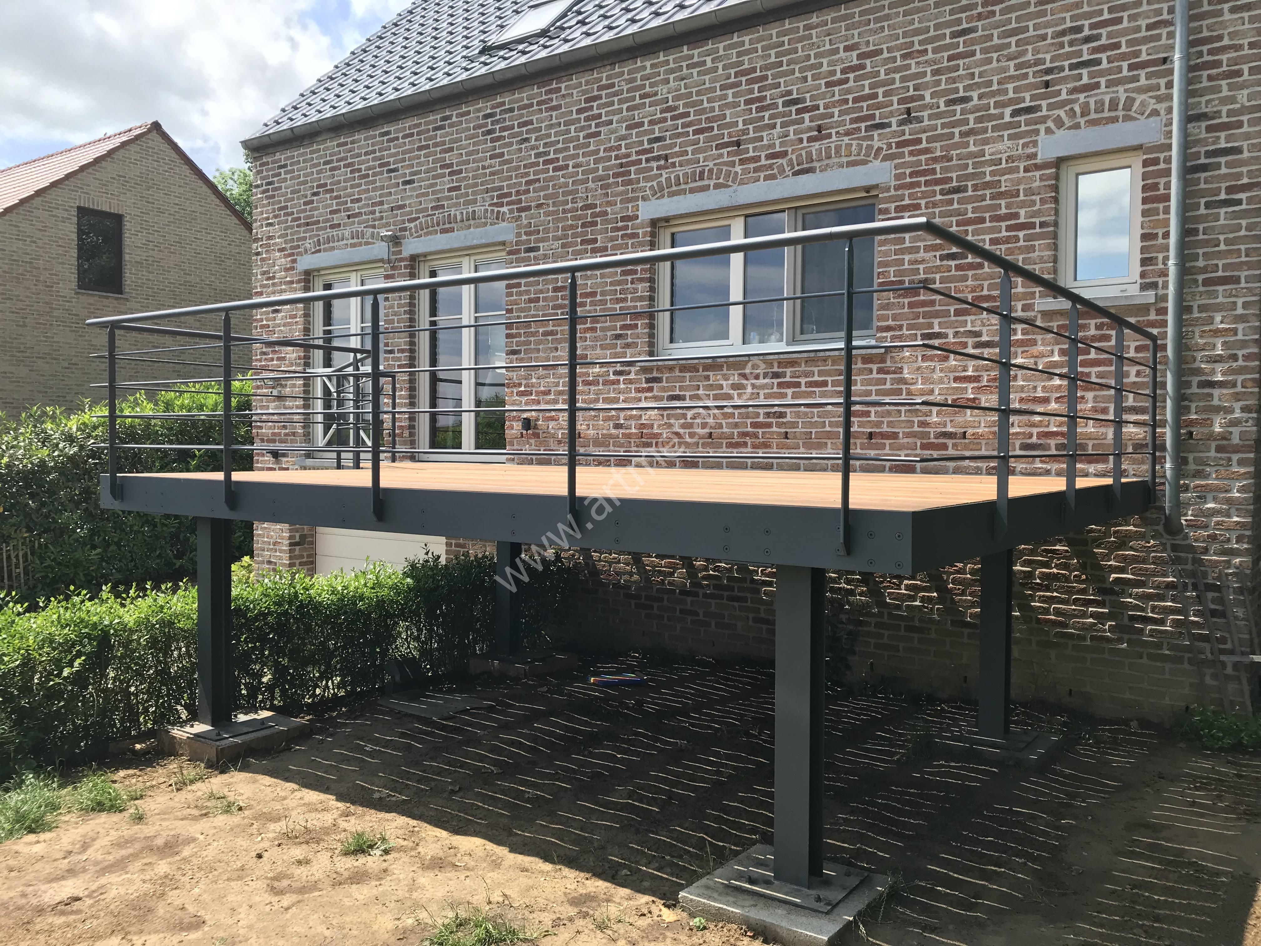 Terrasse - Art-Metal - Ferronnerie - Escaliers Métalliques ... à Garde Corps Terrasse