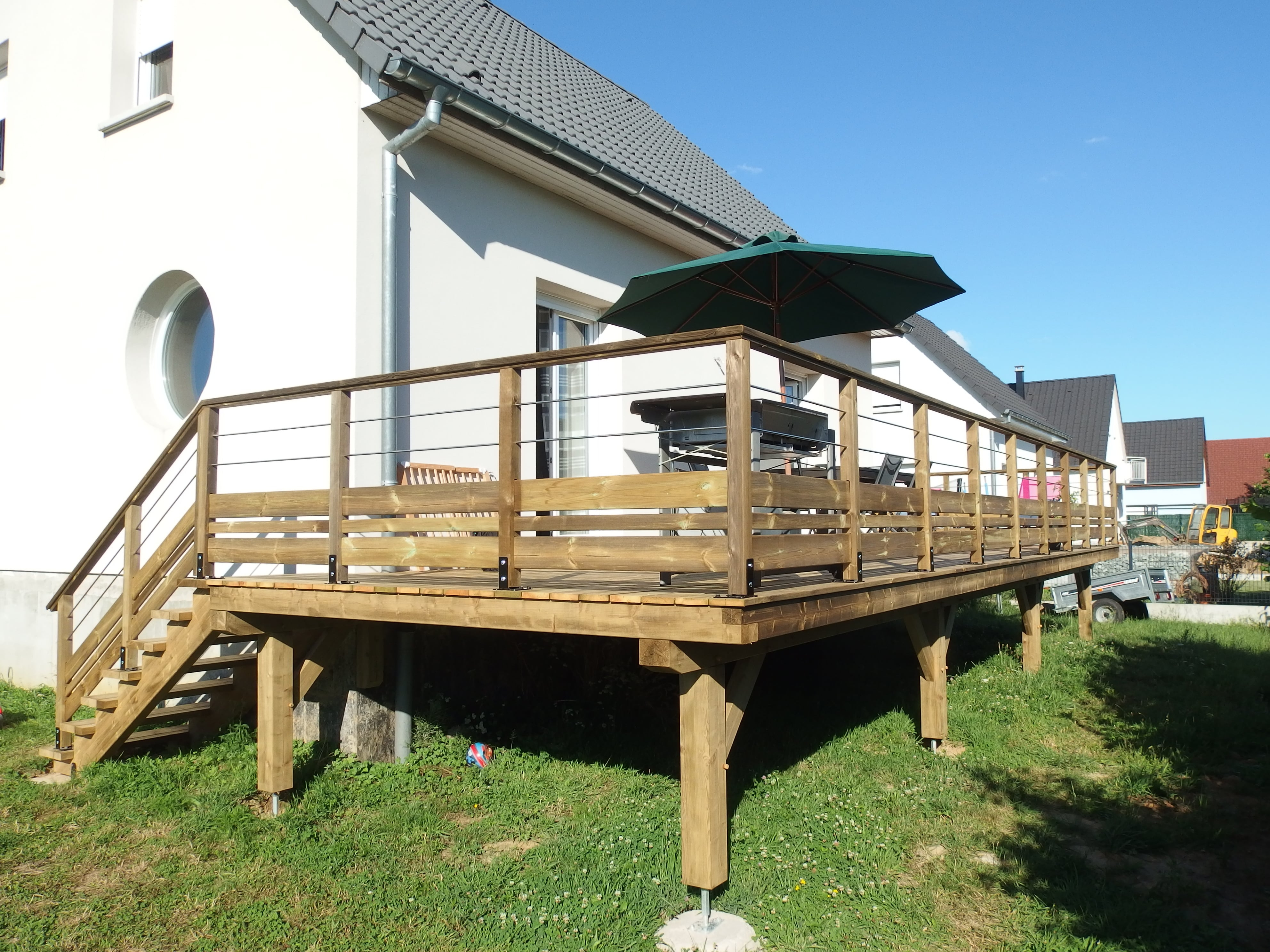 Terrasse Bois En Alsace. Pergolas, Abris En Bois, Carports dedans Abri De Terrasse En Bois