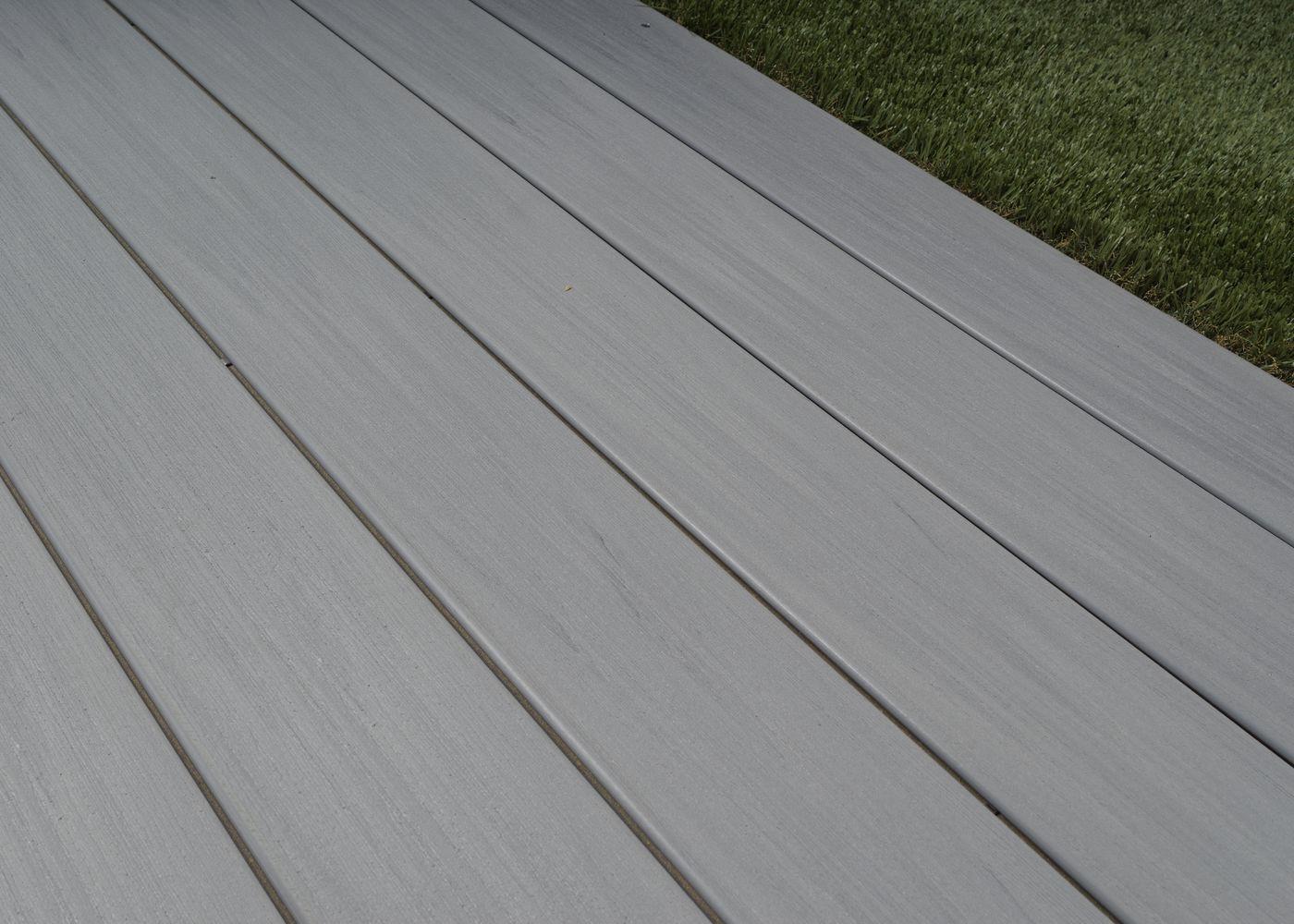 Terrasse Composite Co-Extrudé Gris Belem dedans Lame De Terrasse En Bois