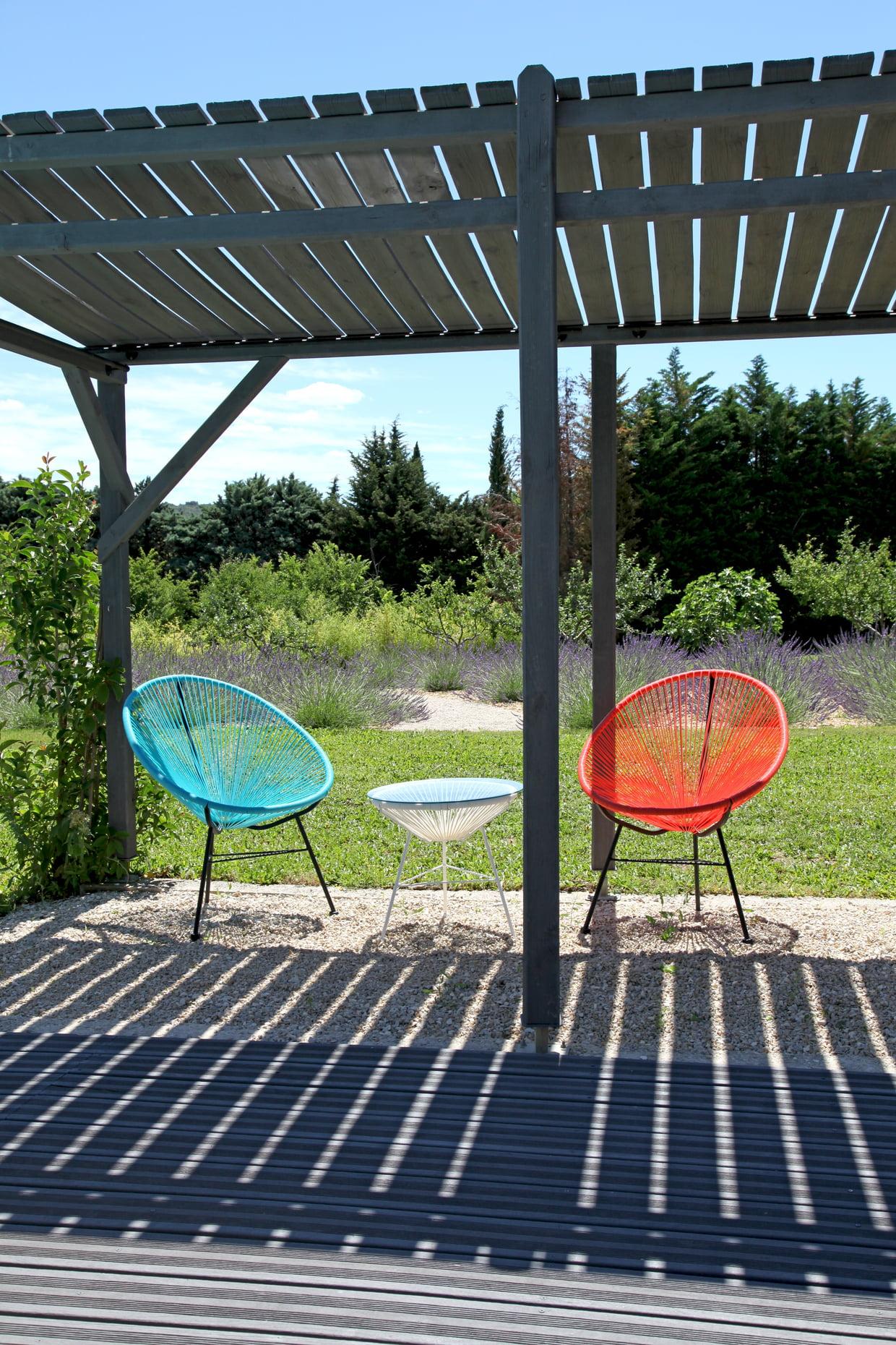 Terrasse Entre Bois Et Gravier concernant Terrasse En Cailloux