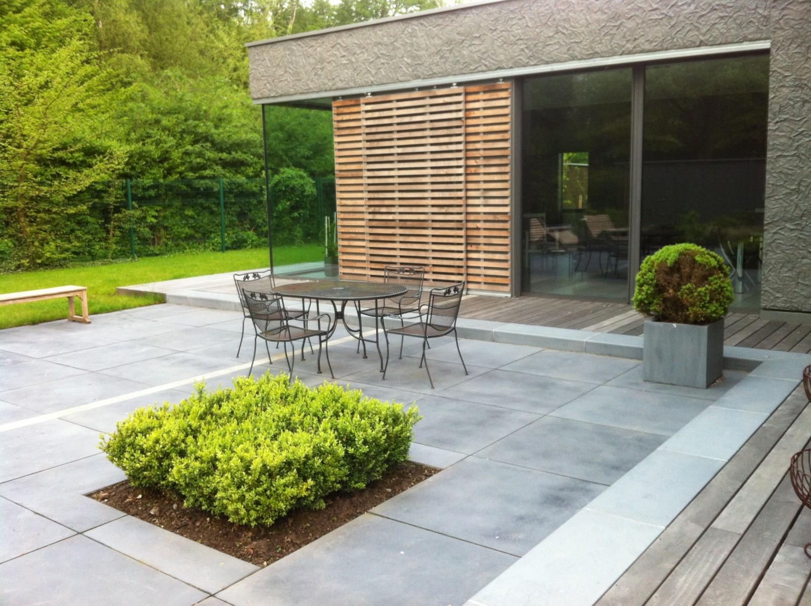 Terrasse Exterieur Beton Conception - Idees Conception Jardin dedans Amenagement De Terrasse Exterieure