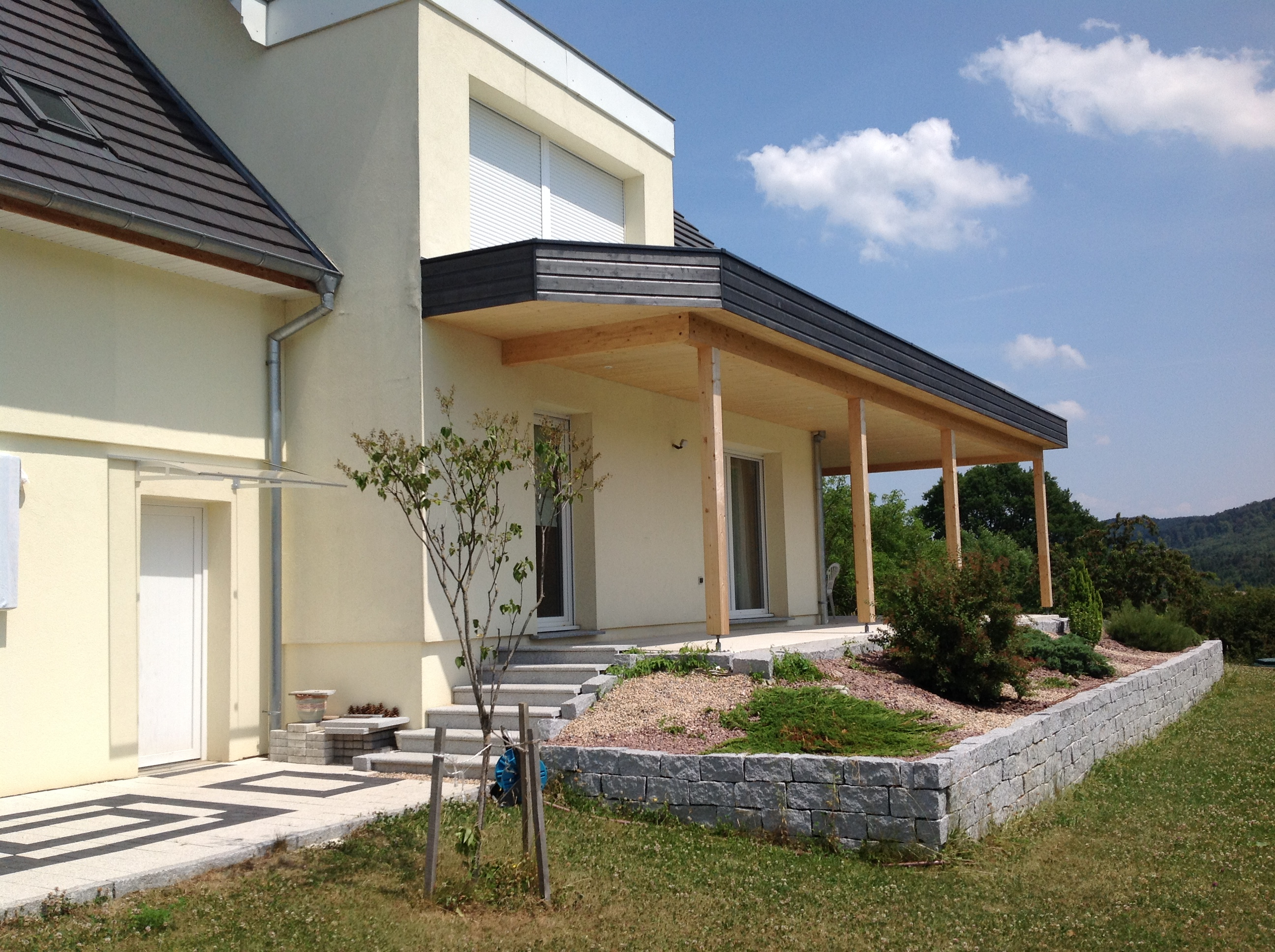 Terrasse Toit Plat Et Garage Attenant - Abt Construction Bois à Terrasse Toit Plat