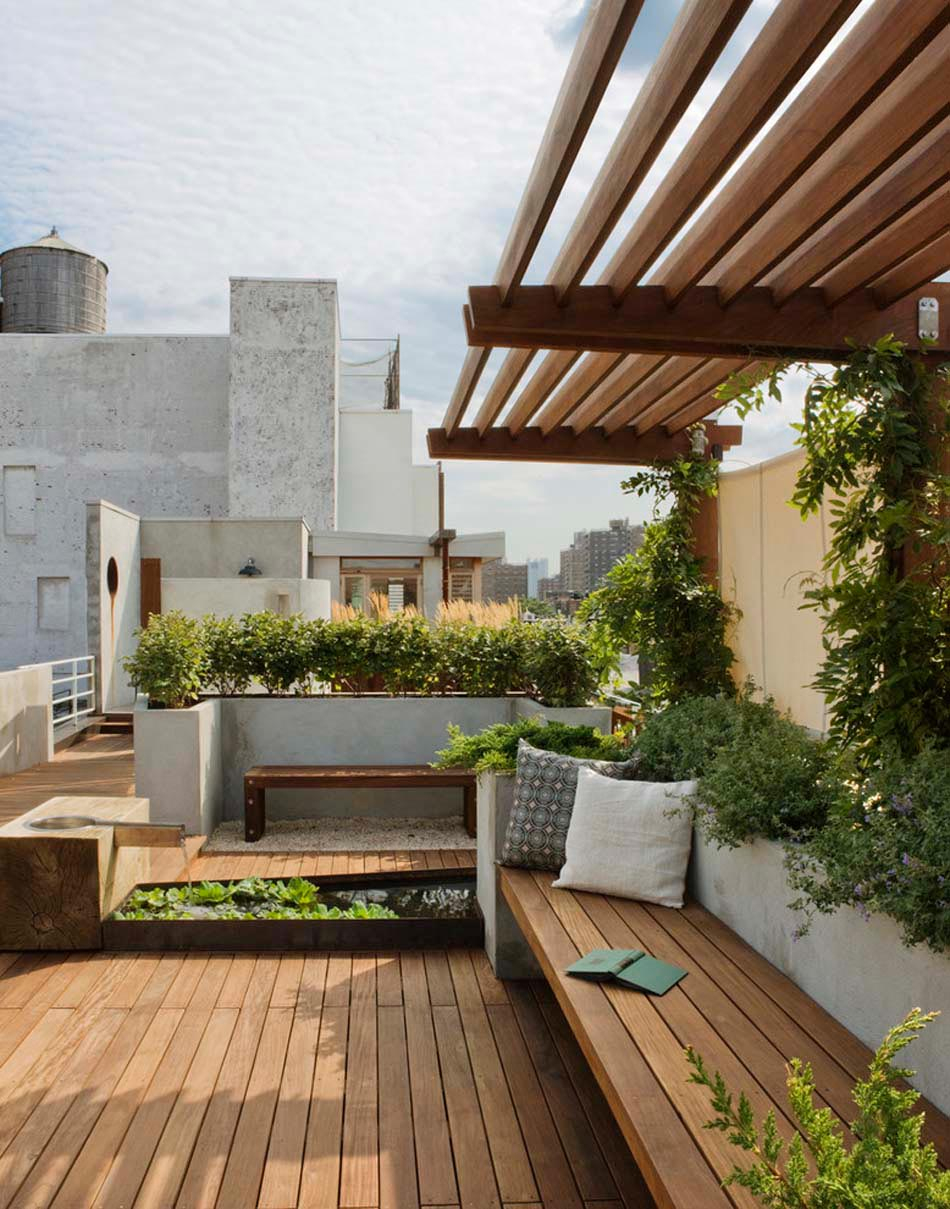 Terrasses Couvertes & Pergola Design Offrant Des Espaces ... tout Amenager Une Grande Terrasse