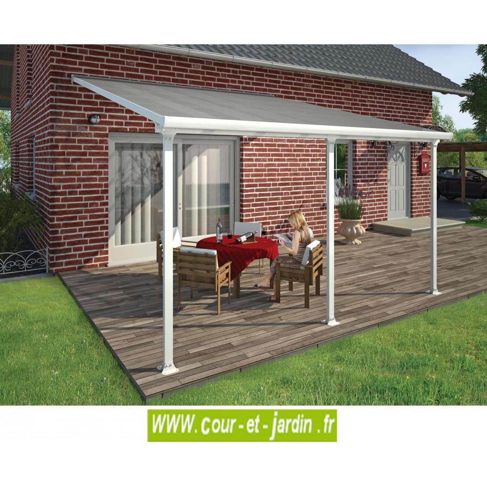 Toit-Terrasse 4Mx4 - Tonnelles - Auvents - Cour Et Jardin concernant Toit Terrasse Aluminium