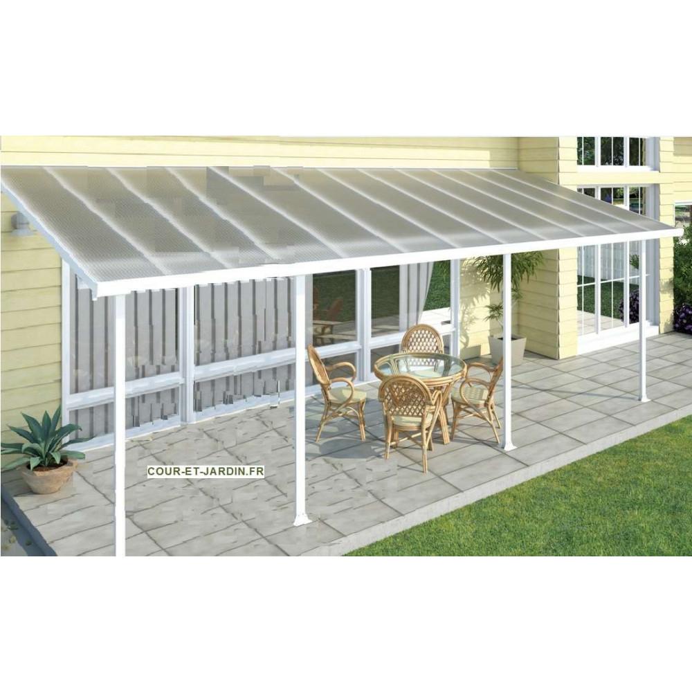 Toit Terrasse Alu 3Mx10 - Tonnelles - Auvents - Cour Et Jardin concernant Toit Terrasse Aluminium