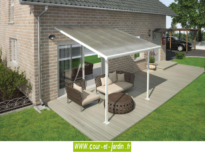 Toit-Terrasse Alu 9M² - Tonnelles - Auvents - Cour Et Jardin serapportantà Toit Terrasse Aluminium