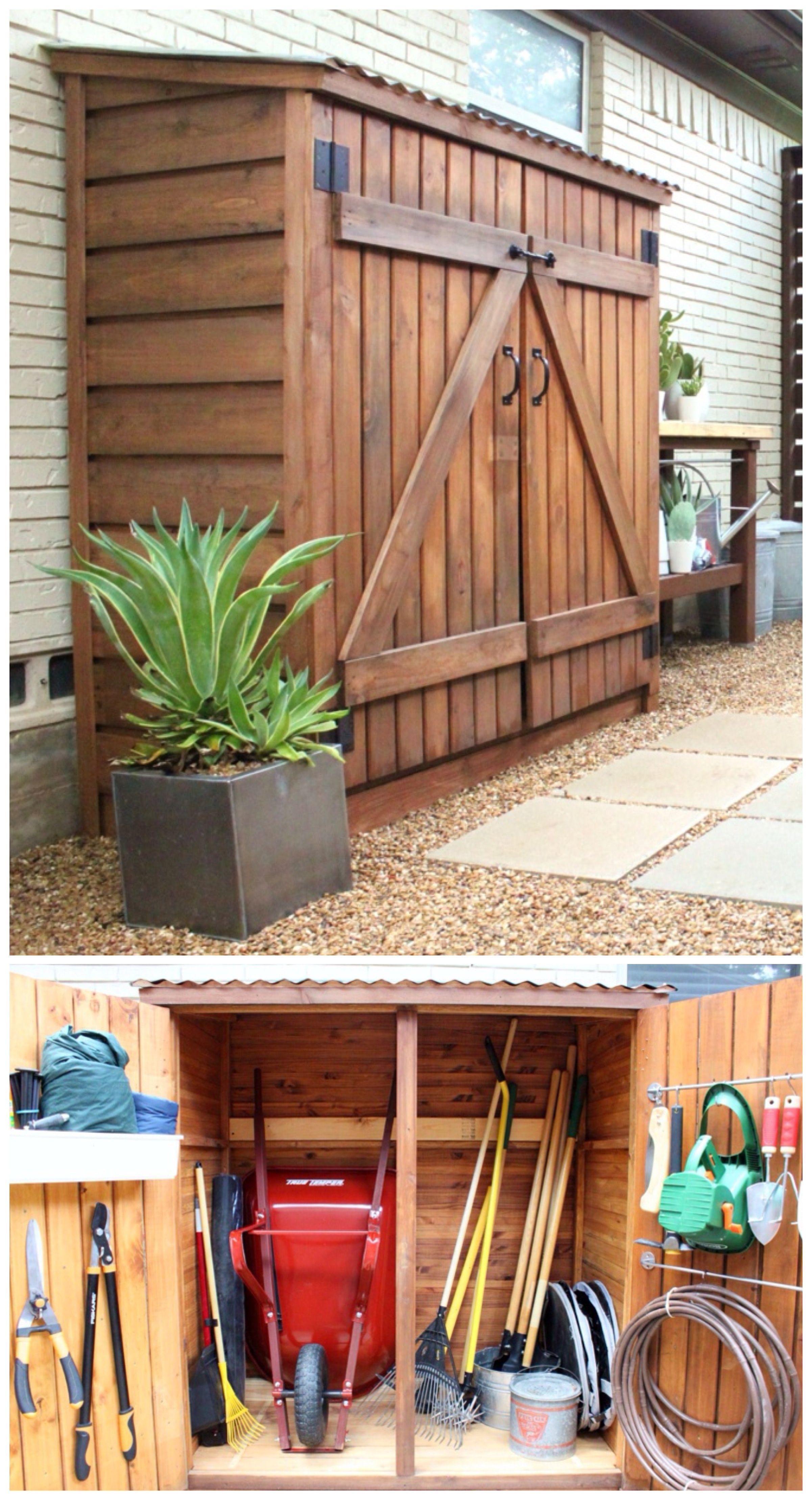 Tool Shed Updates | Rangement Jardin, Outils De Jardin Et ... intérieur Abri De Jardin Original