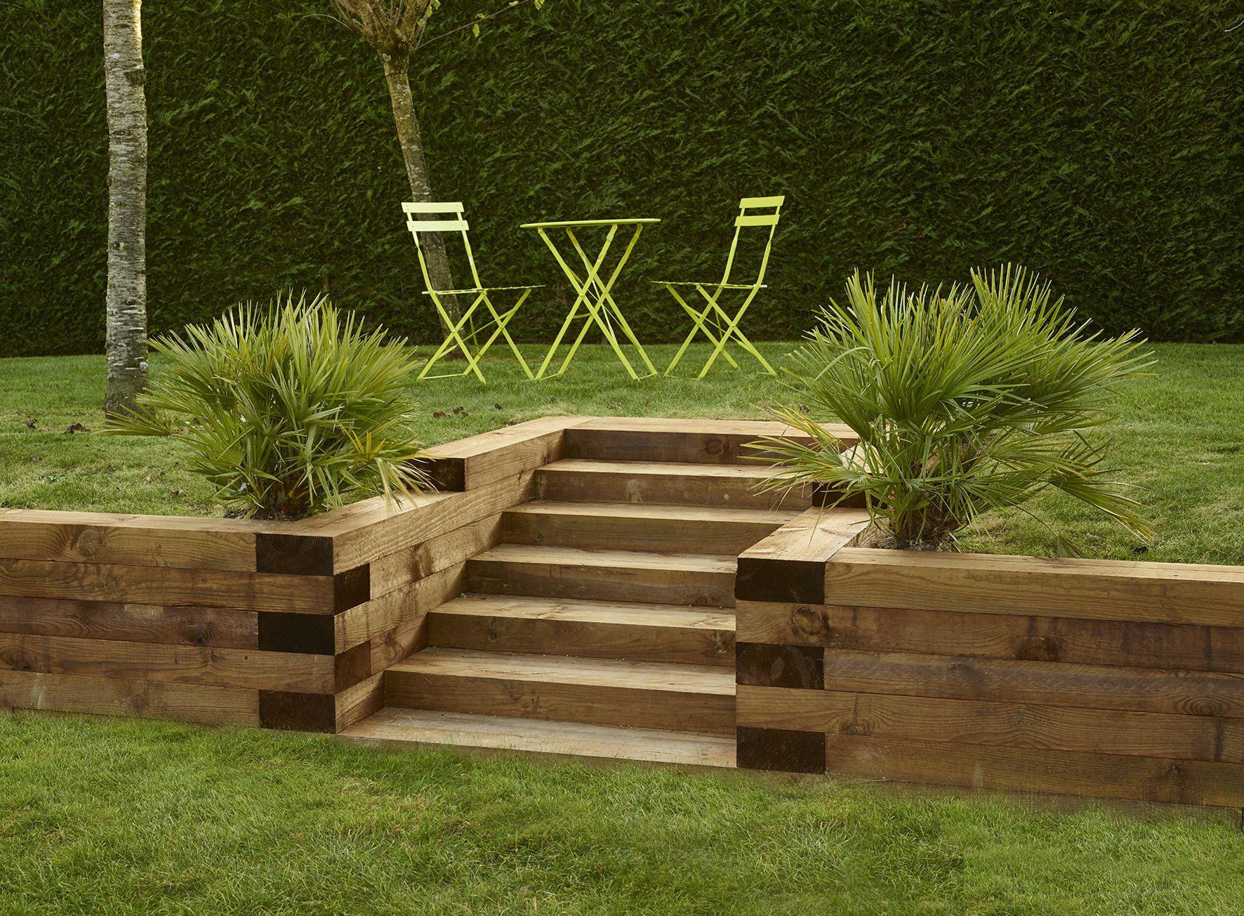 Traverse #aménagement #extérieur #bois | Bordure Jardin ... destiné Bois Pour Exterieur