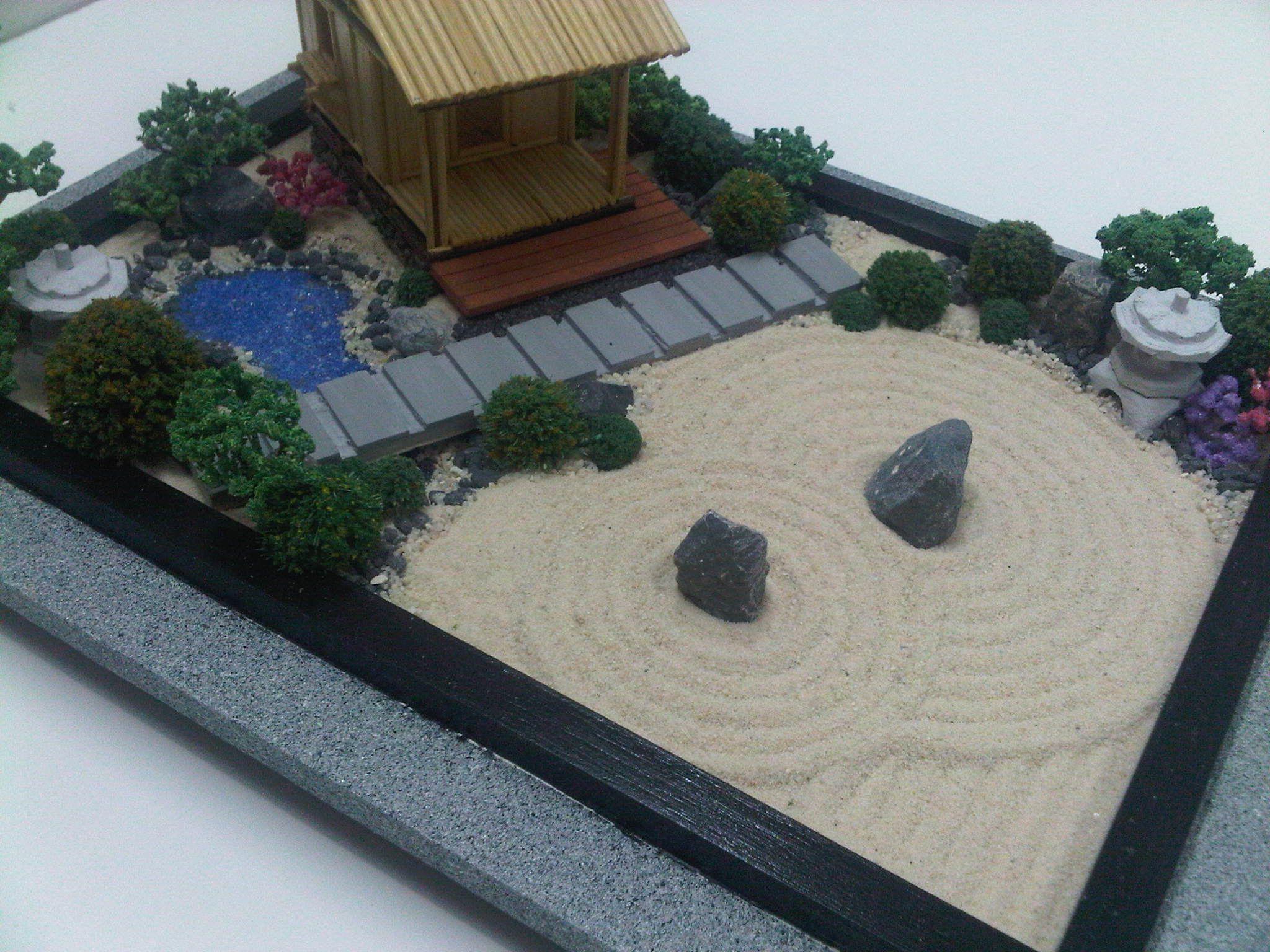 Un Quottea Housequot Miniature Jardin Zen Concept De Diy ... destiné Modele De Jardin Japonais