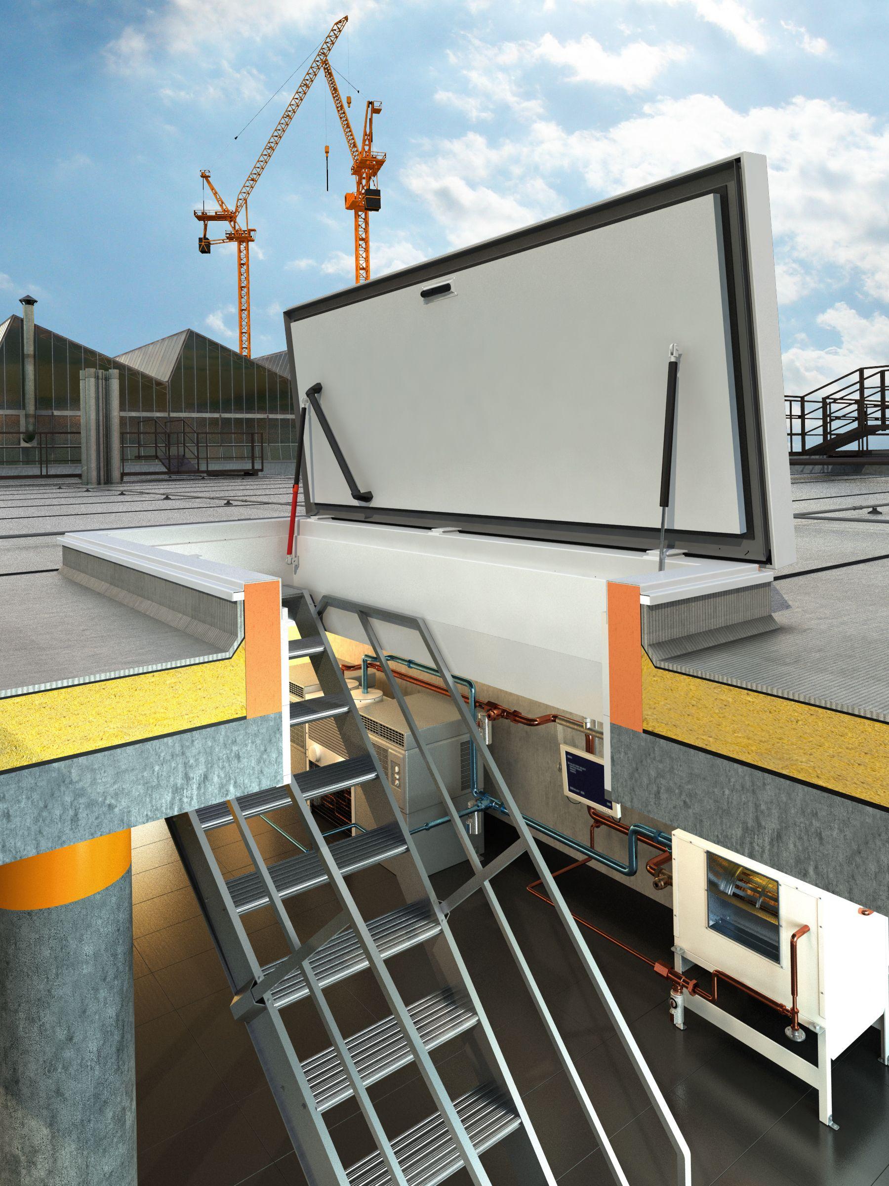 Une Trappe Avec Escalier Fixe Offre L'accès Le Plus ... concernant Acces Toit Terrasse
