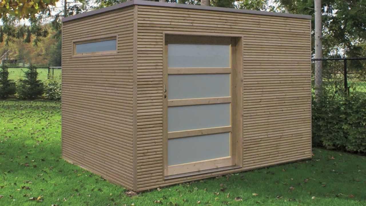Veranclassic, Fabricant D'abris De Jardin Modernes à Abri Jardin Bois Toit Plat