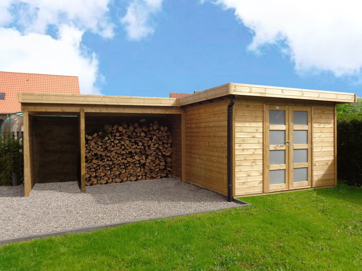 Veranclassic // Optez Pour Une Construction En Bois Sur Mesure! pour Abri Jardin Moderne